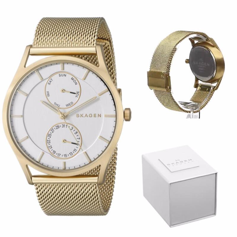 Nơi bán Đồng hồ nam thời trang Đan Mạch Skagen SKW6173 Vàng Unisex Watch 5 kim - Mặt 40mm