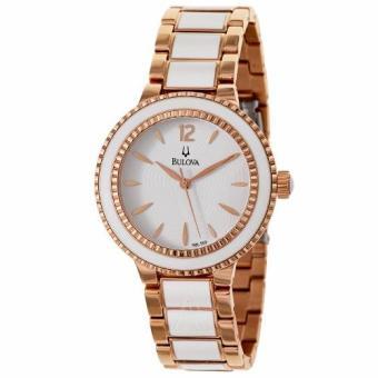 Đồng hồ nữ dây ceramic Bulova 98L189 (Vàng Hồng)