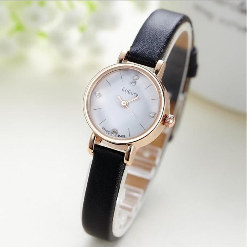 Nơi bán Đồng hồ nữ dây da SKMEI viền đá Skmei (Xanh)