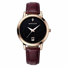 Đồng hồ nữ dây da cao cấp SANDA JAPAN MOVT - dây tím, tặng kèm vòng tay xin xắn
