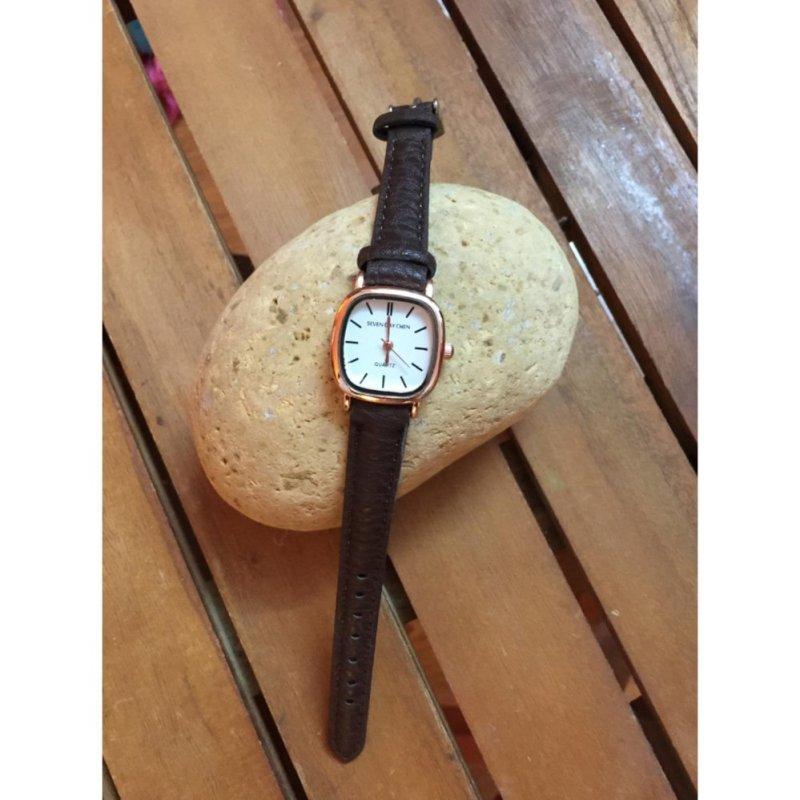 Nơi bán Đồng hồ nữ Dây da SDC21 (dây Nâu nền Trắng)