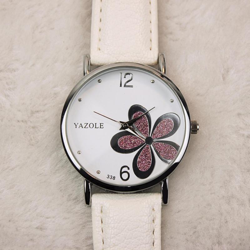 Nơi bán Đồng hồ nữ dây da  Yazole 338 mặt hoa tinh tế