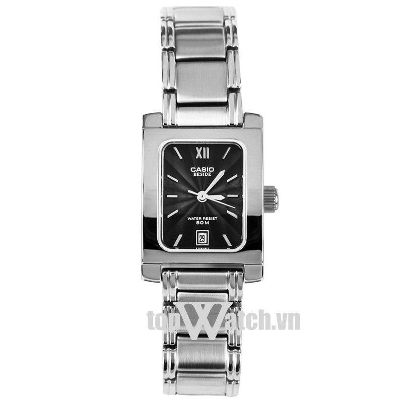 Nơi bán Đồng hồ nữ dây kim loại Casio BEL-100D-1AVDF(Mặt Đen)