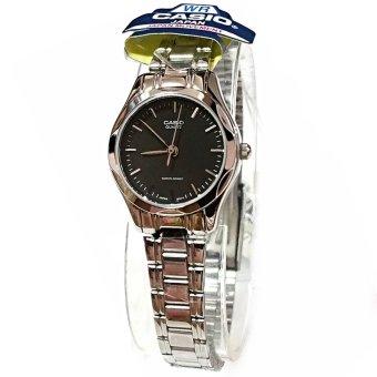 Đồng hồ nữ dây kim loại Casio LTP-1275D-1ADF (Đen)