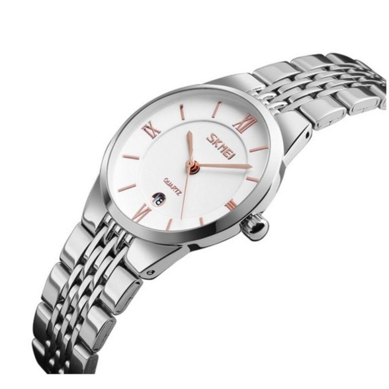 Nơi bán Đồng hồ nữ dây thép không gỉ siêu mỏng SKMEI 9139 (trắng-vàng hồng)
