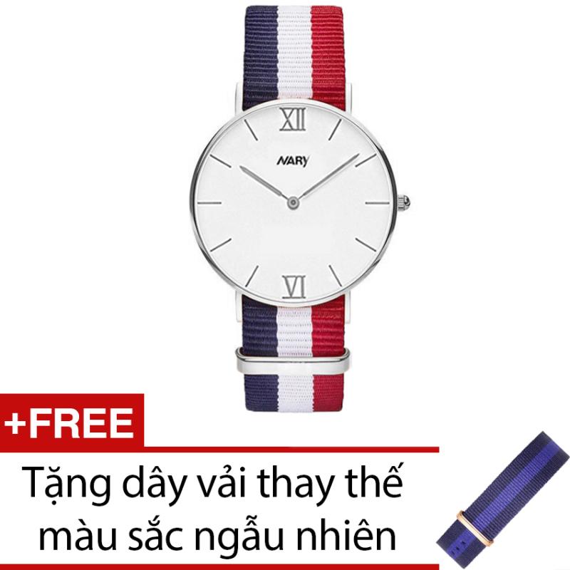 Nơi bán Đồng hồ nữ dây vải Nato NARY CH060 (FAP-B) + Tặng dây vải thay thế màu sắc ngẫu nhiên