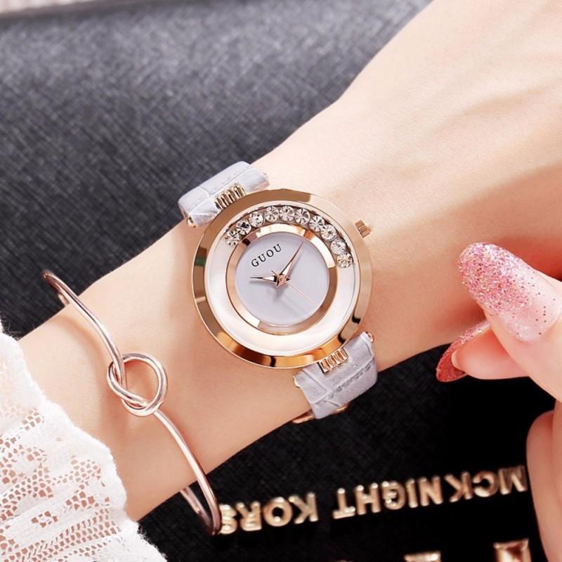 Nơi bán Đồng hồ nữ GUOU đá chạy thời trang GR-G0462