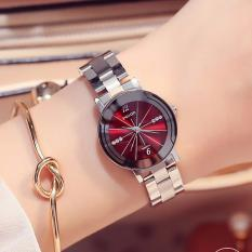 Đồng hồ nữ WILON dây thép vạch múi giờ thời thượng G23-38
