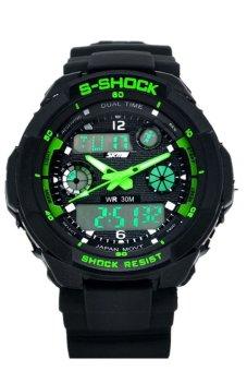 Đồng Hồ S-Shock Thể Thao Đa Chức Năng Màn Hình LED - Xanh lá