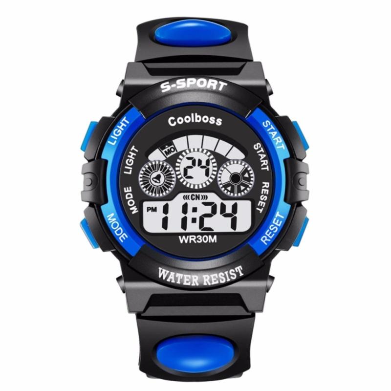 Đồng hồ thế thao bé trai màu xanh dương (Tặng 1 pin ) bán chạy
