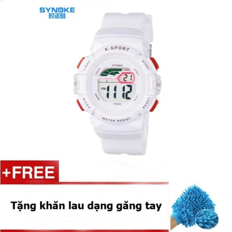 Đồng hồ thể thao cho bé gái Synoke 9568 (Trắng) + quà tặng bán chạy