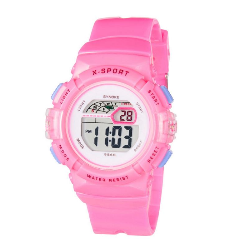 Đồng hồ thể thao dây nhựa trẻ em Synoke 9568 (Hồng) bán chạy