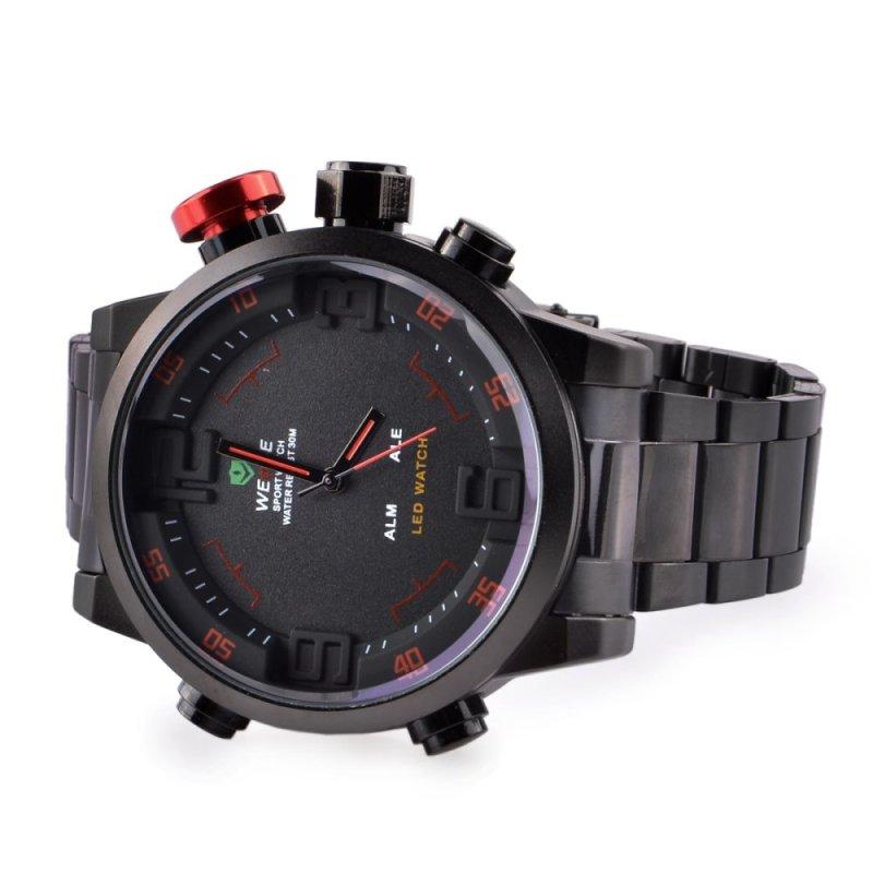 Nơi bán Đồng hồ thể thao kỹ thuật số WEIDE WH2309 chất liệu thép không gỉ với tính năng lịch/báo thức - Màu đen - intl