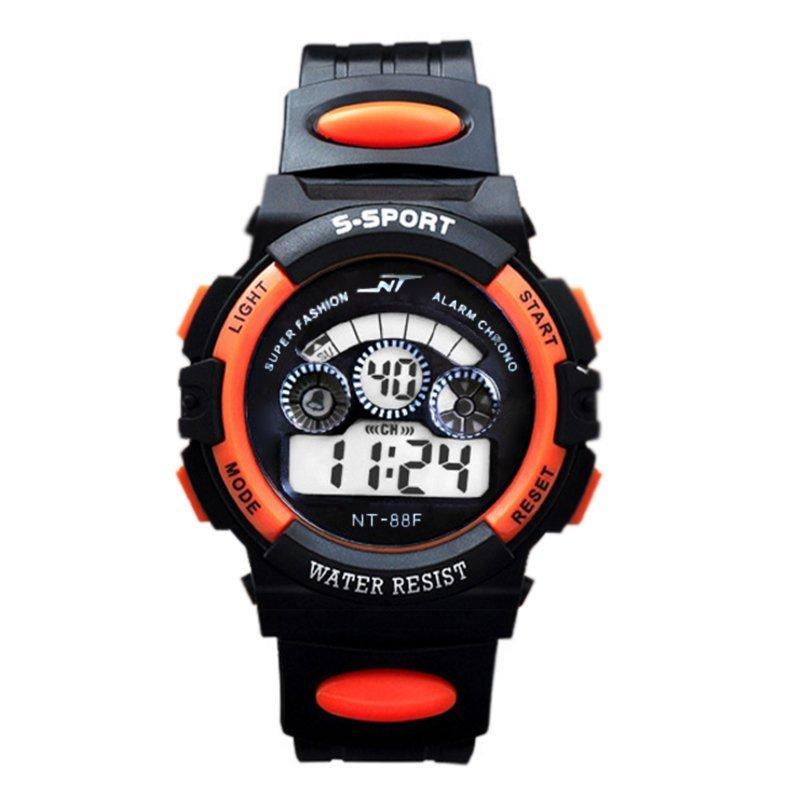 Đồng hồ thể thao trẻ em dây nhựa (Cam phối đen) bán chạy