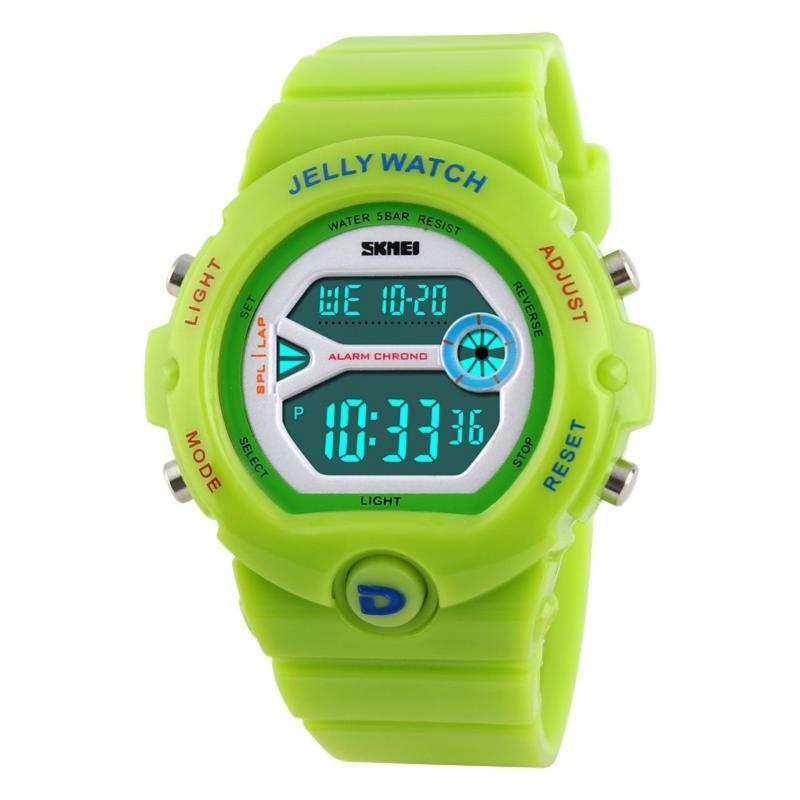 Đồng hồ thể thao trẻ em dây nhựa Skmei SK109 (Xanh lá chuối) bán chạy