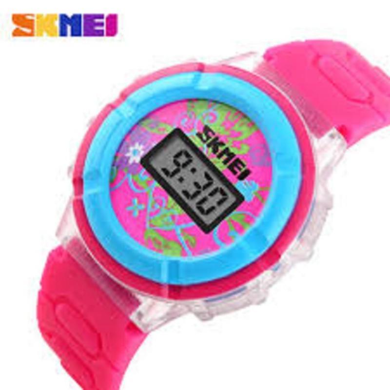 Đồng hồ thời trang bé gái dây cao su Skmei 1097 (Hồng ) bán chạy