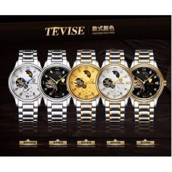 Đồng hồ thời trang TEVISE TE1 bạc mặt vàng -AL