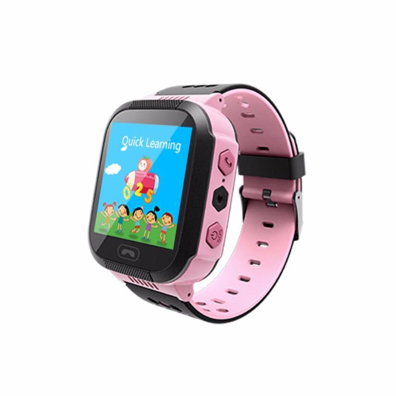 Đồng hồ thông minh có định vị GPS - LBS Q528 ( hồng đen ) bán chạy