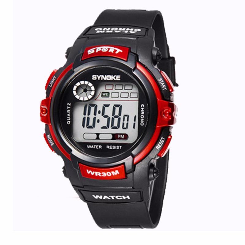 Đồng hồ trẻ em chống nước Synoke 99569 (đen phối đỏ) bán chạy