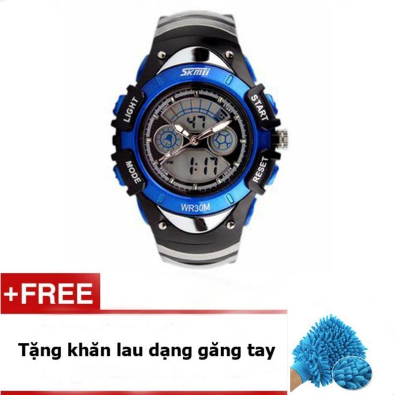 Nơi bán Đồng hồ trẻ em dây cao su Skmei 0998 (Xanh dương) + quà tặng