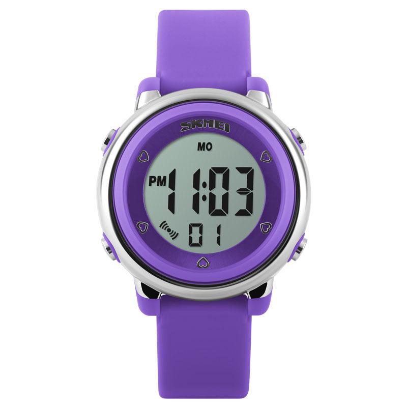 Đồng hồ trẻ em dây cao su Skmei 1100 (Tím) bán chạy