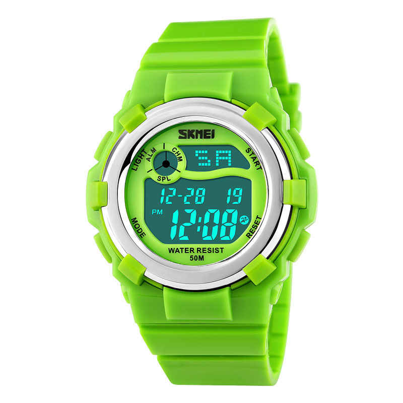Đồng hồ trẻ em dây cao su Skmei 1161 (Xanh lá) bán chạy