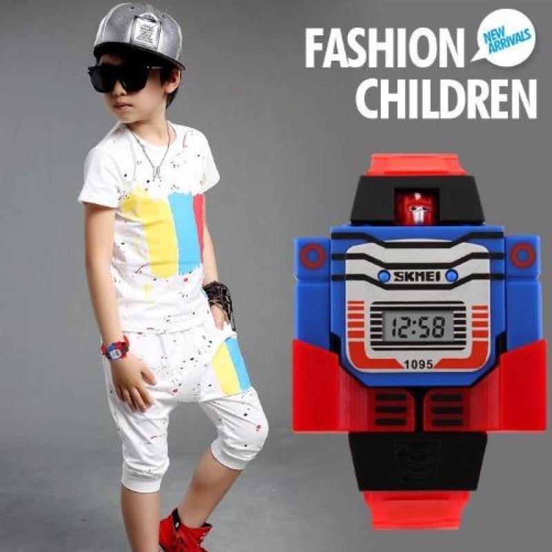 Đồng hồ trẻ em dây nhựa SKMEI 1095 (Đỏ) bán chạy