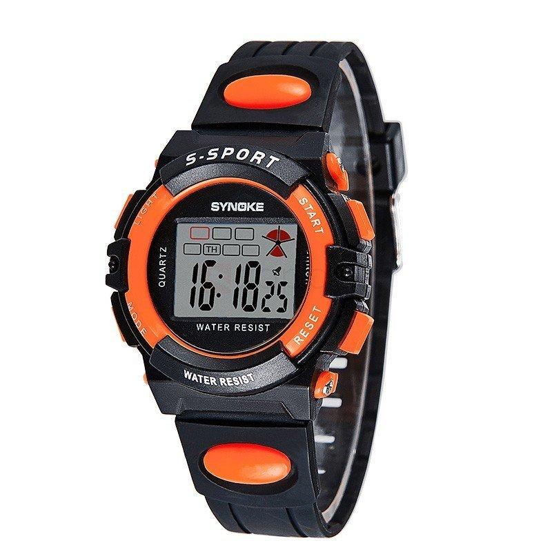 Đồng hồ trẻ em dây nhựa Synoke 99268 (Đen viền cam) bán chạy
