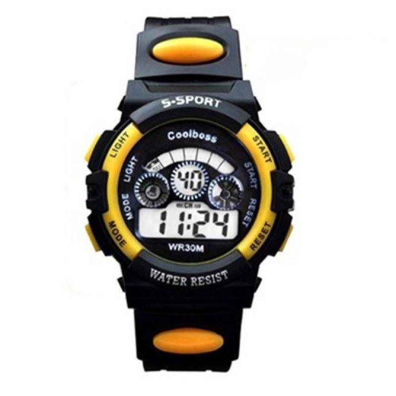 Nơi bán Đồng hồ trẻ em dây nhựa thể thao (Vàng đen)