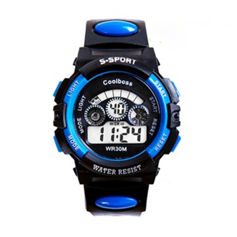 Đồng hồ trẻ em dây nhựa thể thao (Xanh đen) bán chạy