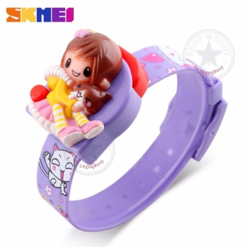 Đồng hồ trẻ em Skmei CH358-8 (Bé gái-Tím) bán chạy