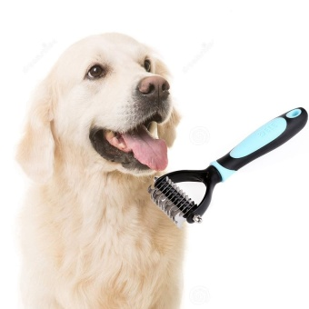 Double-Sided Open End Professional Pet Rake - intl