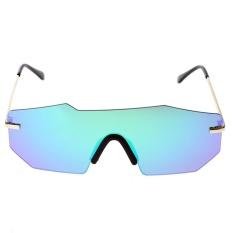 Khuyến Mãi European Unisex Personalized Two-beam Mirror Sunglasses (Green Quicksilver) – intl  crystalawaking