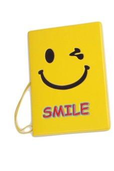 Fancyqube Passport Holder Smiling face (Yellow) (Intl)