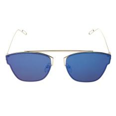 Giá Sốc Fashion Colorful Flat Sunglasses (Blue Quicksilver) – intl  crystalawaking