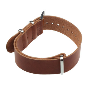 Fashion Concise PU Leather 22cm Wrist Watch Band Strap Pin BuckleBrown