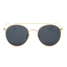 Đánh Giá Female Chic Circle Frame Colorful Sunglasses(Gold)-one size – intl   UNIQUE AMANDA