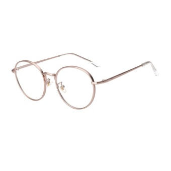 Địa Chỉ Bán Female Common Glasses Flat Circle Round Metal Sunglasses(Gold)-one size – intl   UNIQUE AMANDA