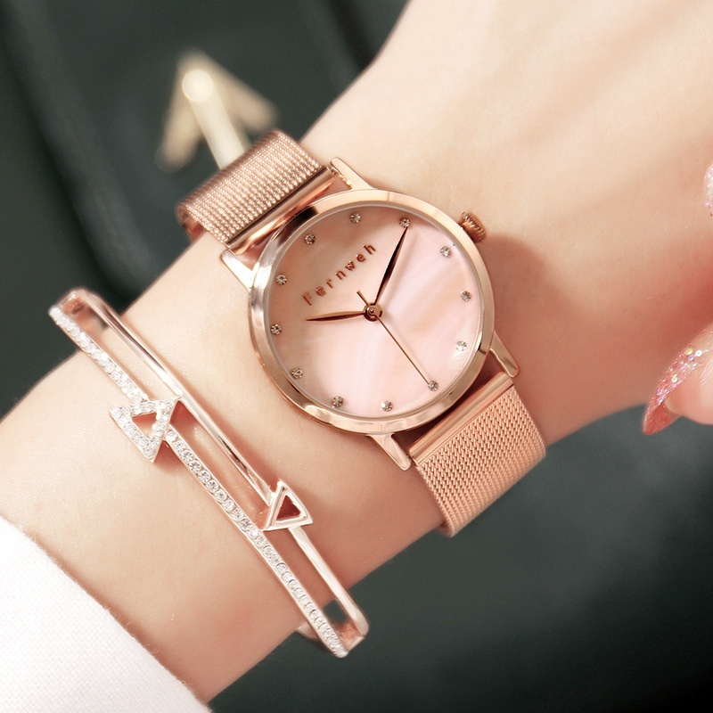 Nơi bán Fernweh exquisite high-end atmosphere Pearl Diamond Rose Gold with imported high-grade waterproof paper - intl
