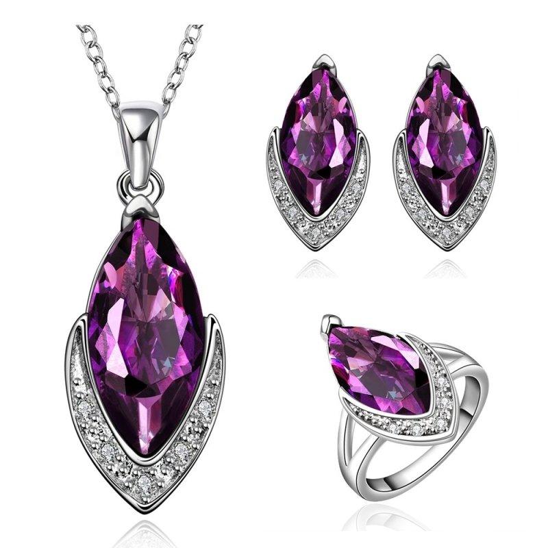 FVRS016Free Shopping Extravagant Party Jewlery Set for Lady Fashion Big Crystal Set - intl