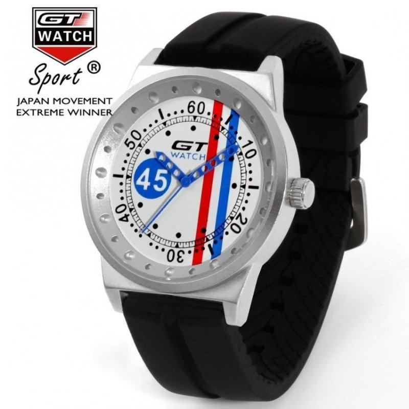 Nơi bán GT Car Racing Mens Womens Couple Casual Silicone Watch White Blue - intl