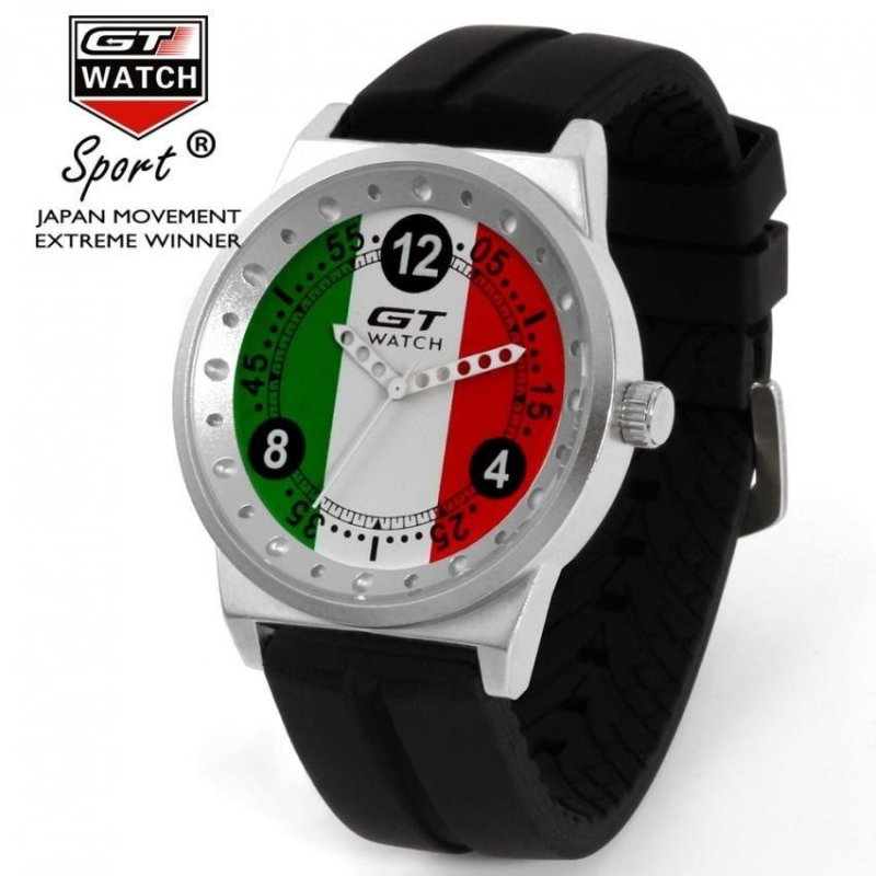 Nơi bán GT Mens Womens Car Racing Fashion Australia Quartz Watch SiliconeStrap - intl