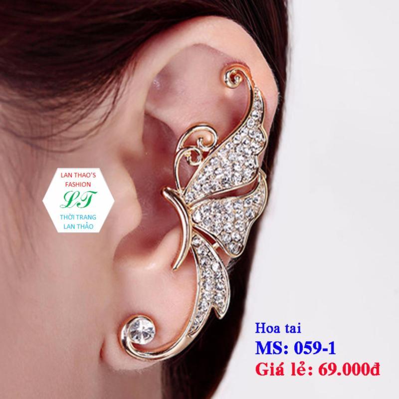 Hoa tai vành bướm siêu cá tính HT059   Hoa tai nu   Cách mạng mua sắm Lazada