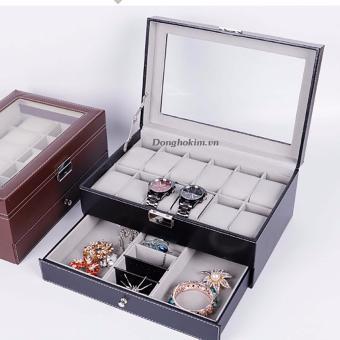 Hộp đựng 12 chiếc đồng hồ và trang sức Olivin LA254 - 3