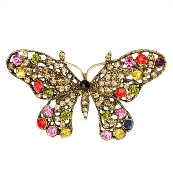 Hot New Large Fashion Drop Pendant Wedding Lady Rhinestone Brooch - intl