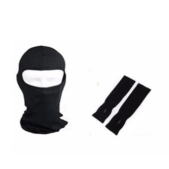 Mũ trùm đầu kèm găng tay chống nắng đi phượt