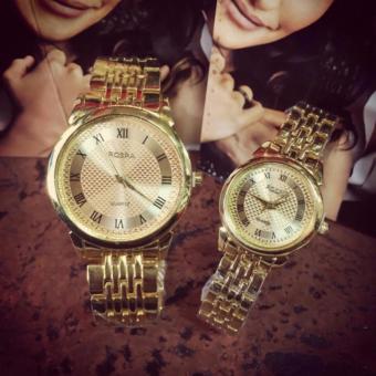Đồng hồ cặp tình nhân dây kim loại ROSRA