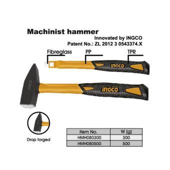 Búa đầu dẹp Ingco 500G - HMH080500