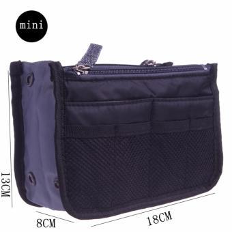Túi đồ dùng cá nhân & mỹ phẩm nhiều ngăn (đen)