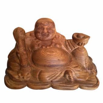 Tượng phật di lặc ngồi cầm vàng cầm như ý gỗ thơm bách xanh già DLBX01